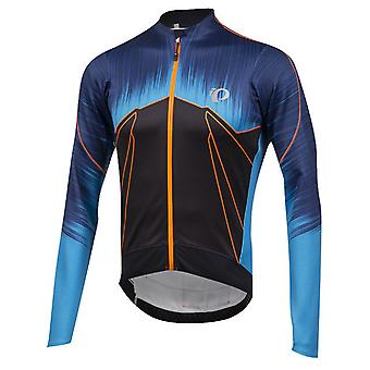 Pearl Izumi Bel Air Blue Pro Pursuit Wind Thermal Long Sleeved Cycling Jersey