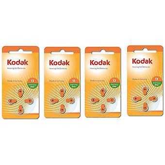 16-pack Kodak Zinc-Air Hearing Aid Batteries 13, A13, PR48,  Orange Colour