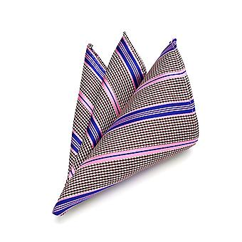 Purple pink & oat stripe stitch pattern pocket square