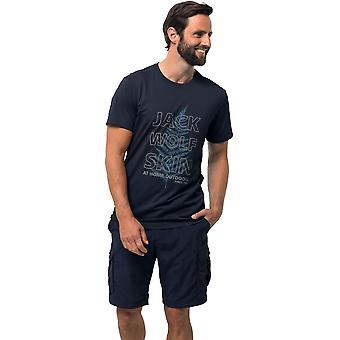 Jack Wolfskin Mens Island Hill Kortärmad grafisk T Shirt