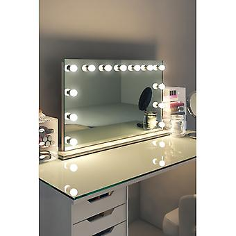 Diamond X Table Top Hollywood Audio Mirror with Dimmable LED k91sLEDaud