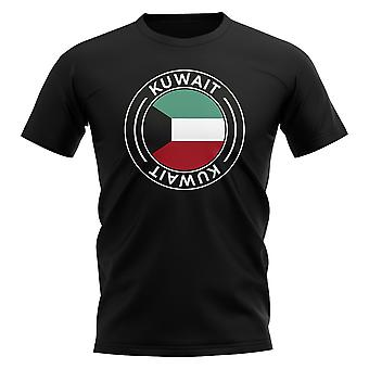 Kuwait Football Badge T-Shirt (Black)