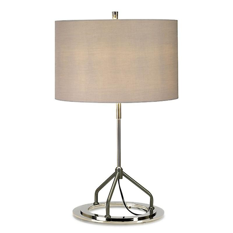 Lampe de table-nickel poli blanc