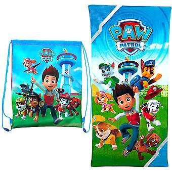 2i1 Paw Patrol Towel towels 120x60cm + drawstring bag 40x31cm