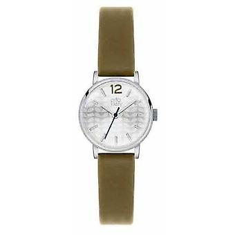 Orla Kiely Frankie Olive Leather Silver Dial OK2045 Watch