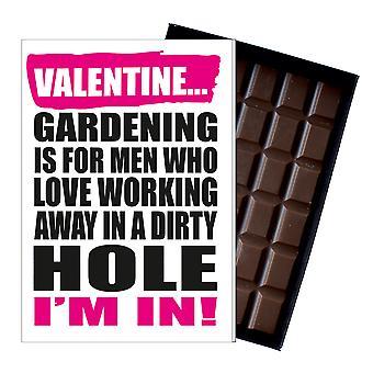 Grappige Valentines Gift voor tuinman chocolade groeten kaart tuinieren aanwezig IYF190