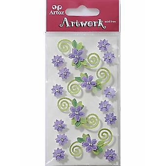 Lilac Flowers Craft Embellishment By Artoz