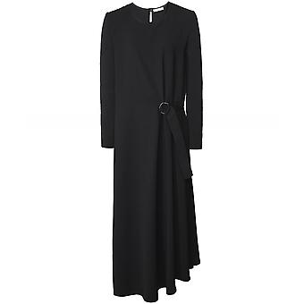 Knirkende konsept Maxi kjole med vrbord strikket ermer