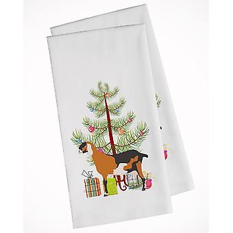 Anglo-nubian Nubian Goat Christmas White Kitchen Towel Set of 2