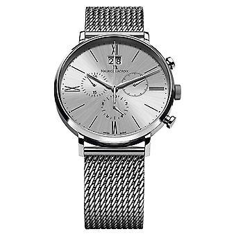 Maurice Lacroix Eliros Date Chronograph Mesh Bracelet Silver EL1098-SS002-110-1 Watch