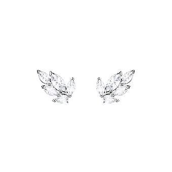 Swarovski Earrings Stud Louison - white - rhodio plating