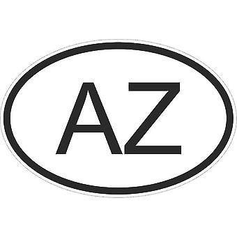 Autocollant Sticker Drapeau Oval Code Pays Voiture Azerbaidjan Azerbaidjanais Az