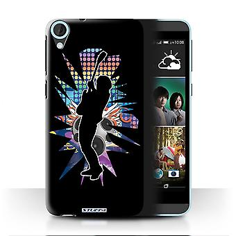 STUFF4 Case/Cover for HTC Desire 820q Dual/Hendrix Black/Rock Star Pose