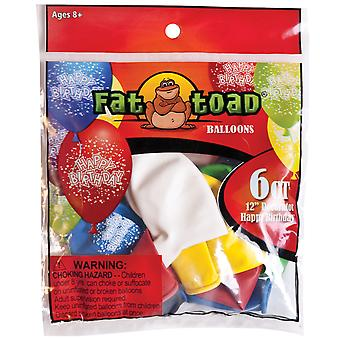 Fat Toad Deco Latex Balloons 12