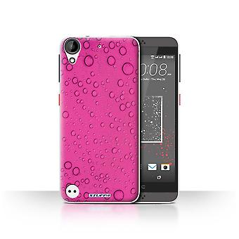 STUFF4 Case/Cover for HTC Desire 630/Pink/Water Droplets