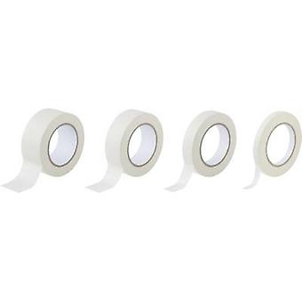 Masking tape set TOOLCRAFT White Natural rubber Content: 4 Rolls