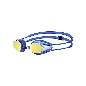 Arena Tracks Junior Mirror Swim Goggle-Mirrored Lens-Blue/Yellow/Revo