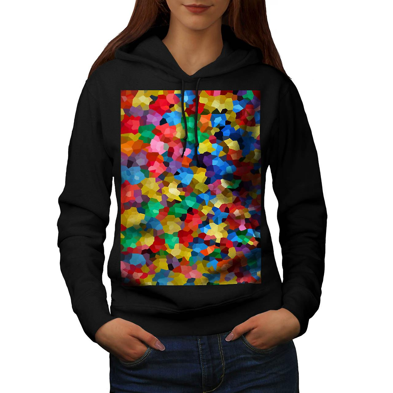 Crazy Colour Ball Pool Candy Life Women Black Hoodie | Wellcoda