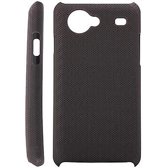 Dotted plastic cover for Samsung Galaxy S Advance i9070 (black)