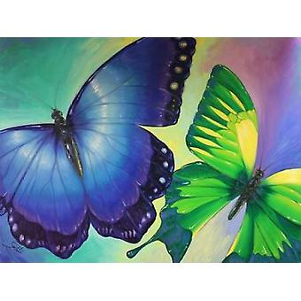 Butterfly Delight Poster Print by Sambataro