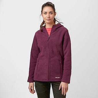 New Peter Storm Women's Celia Walking Casual Hooded Fleece Purple