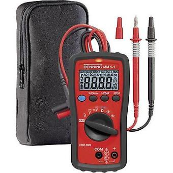 Handheld multimeter digital Benning MM 5-1 Calibrated to: Manufacturer standards CAT III 600 V, CAT IV 300 V Display (c