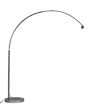 QAZQA Arc Floor Lamp Chrome without Shade
