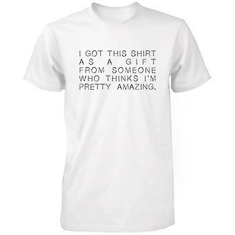 I Got This Shirt as a Gift White Cotton T-shirt- Cute X-mas Graphic Tee
