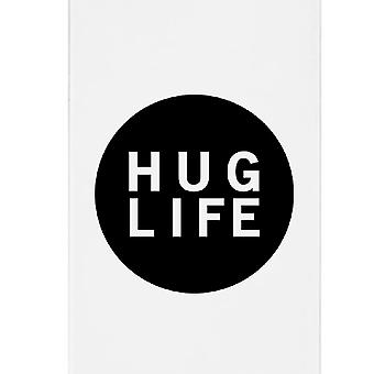 Hug Life Black Sleeveless White Phone Case