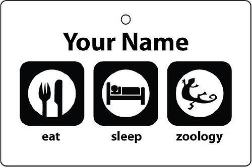 Personalised Eat Sleep Zoology Car Air Freshener