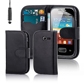 Book wallet case + stylus for Samsung Galaxy Pocket 2 (SM-G110) - Black