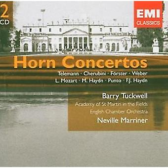 Horn Concertos - Telemann Cherubini Forster Weber L. Mozart M. and F. Haydn Punto - Barry Tuckwell by Neville Marriner