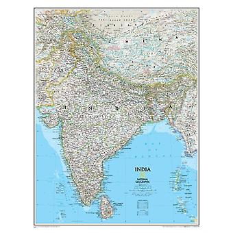 India Classic tubed Wall Maps Countries & Regions (Reference - Countries & Regions) (Map) by National Geographic Maps