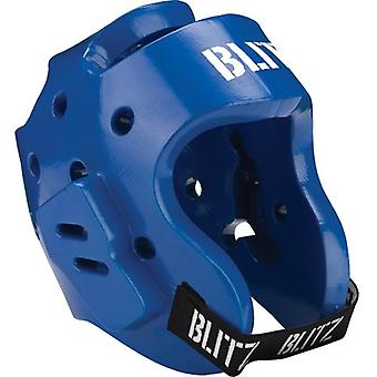 Blitz Sports Dipped Foam Hood Head Guard - Blue