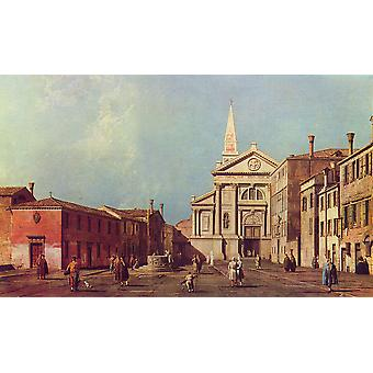 Canaletto - Village Centre Poster Print Giclee