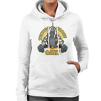Techno Horse Gym Bravestarr Women's Hooded Sweatshirt