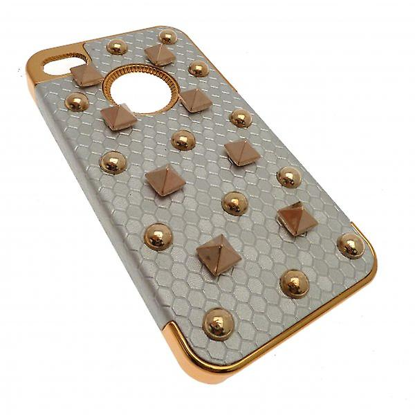 W.A.T Metallic Cream And Gold Style Stud IPhone 5 Cover