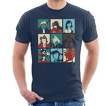 Final Fantasy 7 Pop Art menn t-skjorte
