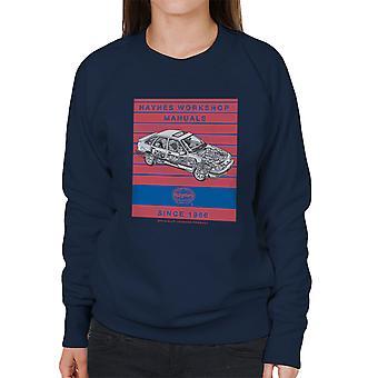 Haynes Workshop Manual 0904 Ford Sierra V6 4X4 Stripe Women's Sweatshirt