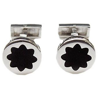 Tyler and Tyler Author Capsule Cufflinks - Silver/Black