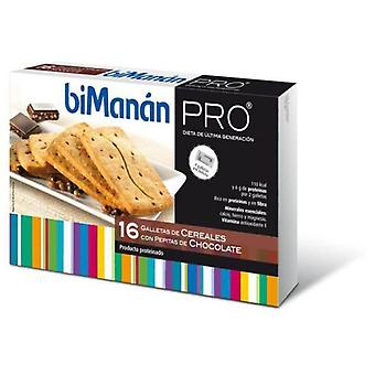 Bimanan PRO Biscuits Cereals with nuggets Choco 16 units (Dietética , Bolachas)
