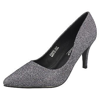 Ladies Anne Michelle Mid Heel Court Shoes F90022