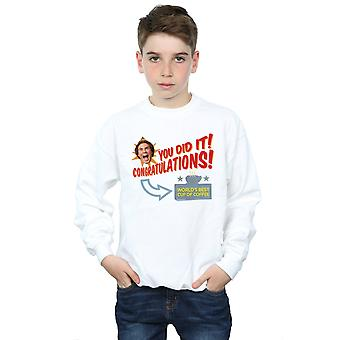 Elf Boys World's Best Coffee Sweatshirt