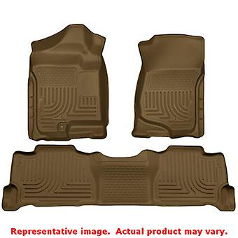 Husky Liners 98253 Tan WeatherBeater Front & 2de stoel F past: CADILLAC 2007-20