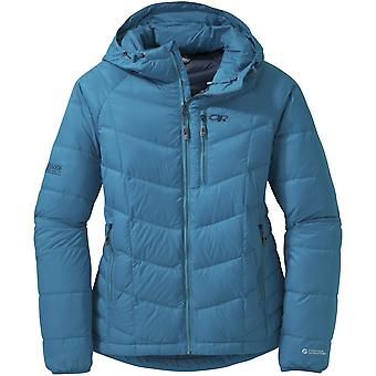Outdoor Research Womens Sonata Hooded Down Jacket Oasis/Night (UK Size 12)