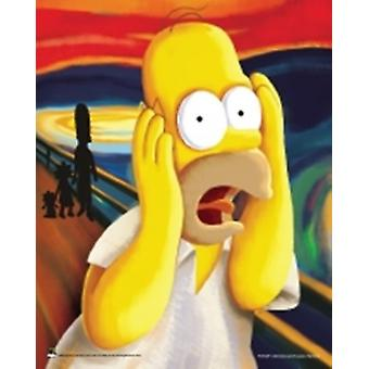 The Simpsons - Homer Scream Poster Poster Print