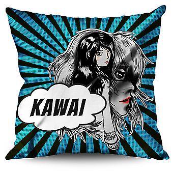Beautiful Anime Linen Cushion Beautiful Anime | Wellcoda