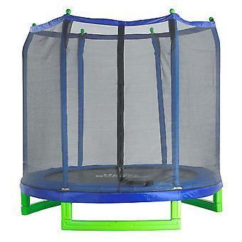 Upper Bounce® 7 FT. Trampoline & Enclosure Set equipped with the New