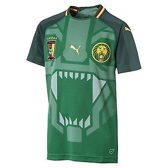 2018-2019 Kamerun hem Puma fotbollströja (Kids)