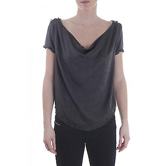 Maison Scotch Womens 3/4 Sleeve Top With Ruffle Detail